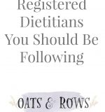 Registered Dietitians You Should Be Following {January Wellness Series}